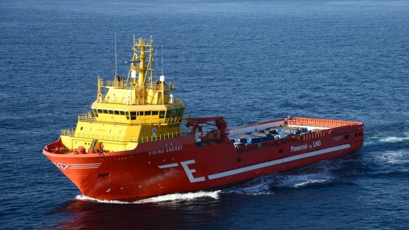 Viking Energy: erstes Schiff mit einer Brennstoffzelle, die mit Ammoniak betrieben wird
