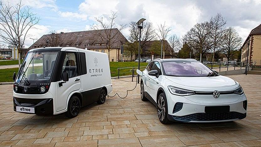 Mobile Ladestation im Einsatz: Die Ladefahrzeuge sollen von Franchise-Partnern betrieben werden.
