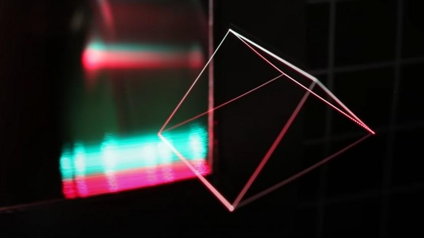 Hologramme wie dieses werden durch beleuchtete Partikel erzeugt.