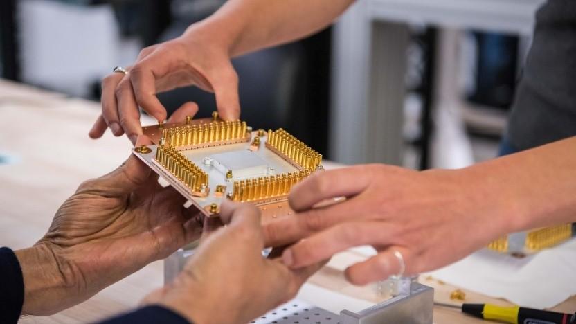 Ein Teil des Quantencomputers von Google. Deutschland will eine Konkurrenz dazu fördern.