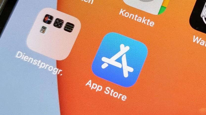 Der App Store auf einem iPhone