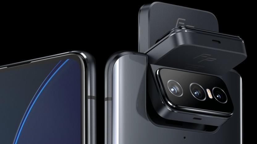 Die schwenkbare Kamera des Zenfone 8 Flip in Aktion