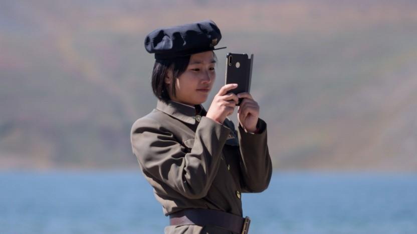 Rund ein Viertel der Bevölkerung Nordkoreas verwendet ein Smartphone.