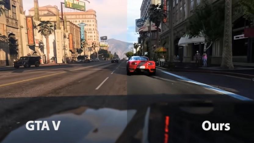 Vergleich GTA 5 mit Post Processing von Intel