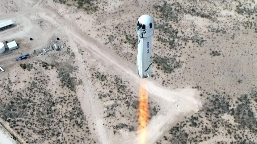 Test der New Shepard (im April 2021): kurzer und teurer Ausflug ins All