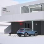 Audi Charging Hub: Audi plant Ladestation mit Lounge-Room