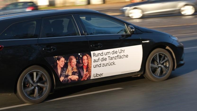 Ein Uber-Auto in Berlin