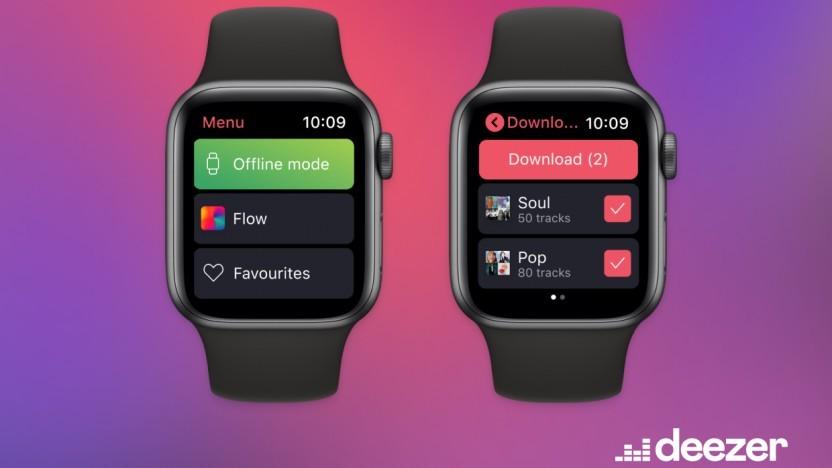 Deezer ermöglicht Downloads auf der Apple Watch - Spotify ebenfalls.