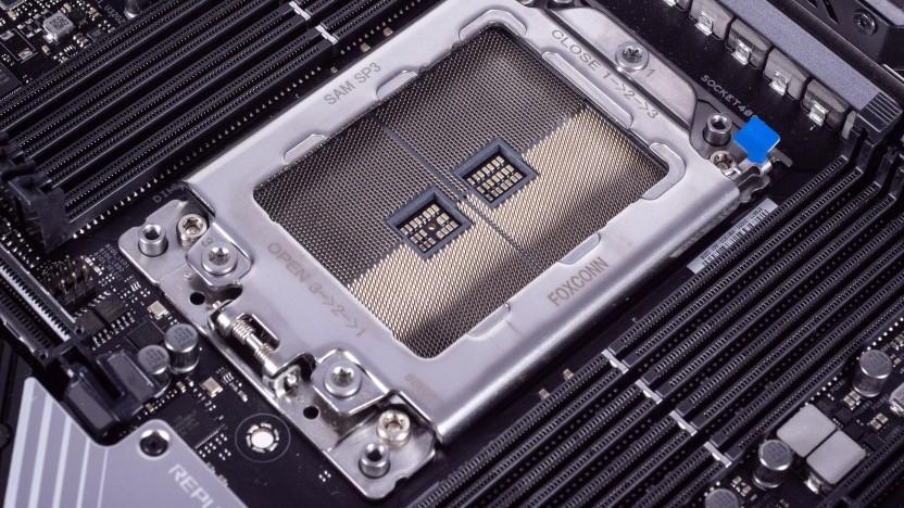 LGA-Sockel eines Threadripper-Mainboards