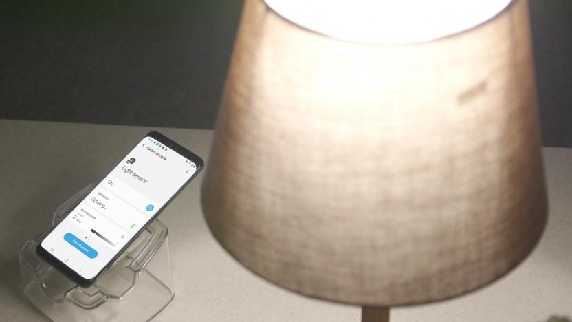 Ein Galaxy S9 als Lichtsensor