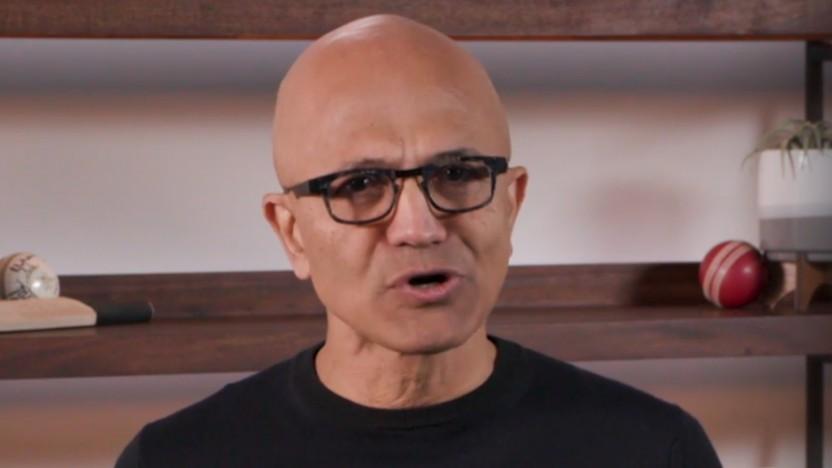 Microsoft-CEO Satya Nadella freut sich auf die nächste Generation von Windows 10.