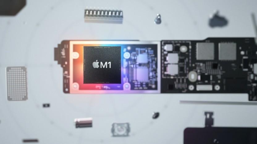 Macbook-Platine mit M1-SoC