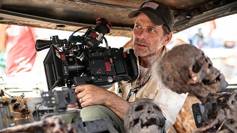 Regisseur und Kameramann Zack Snyder am Set
