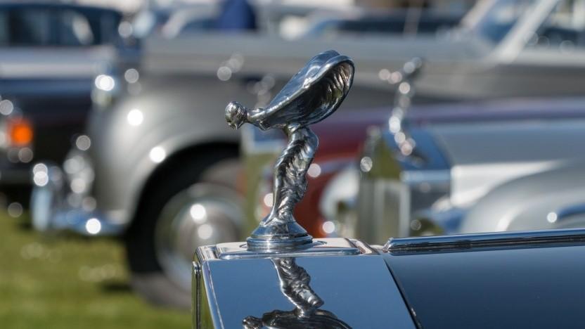 """Rolls-Royce-Kühlerfigur Spirit of Ecstasy (Symbolbild): """"Die Elektrifizierung passt perfekt zu Rolls-Royce."""""""