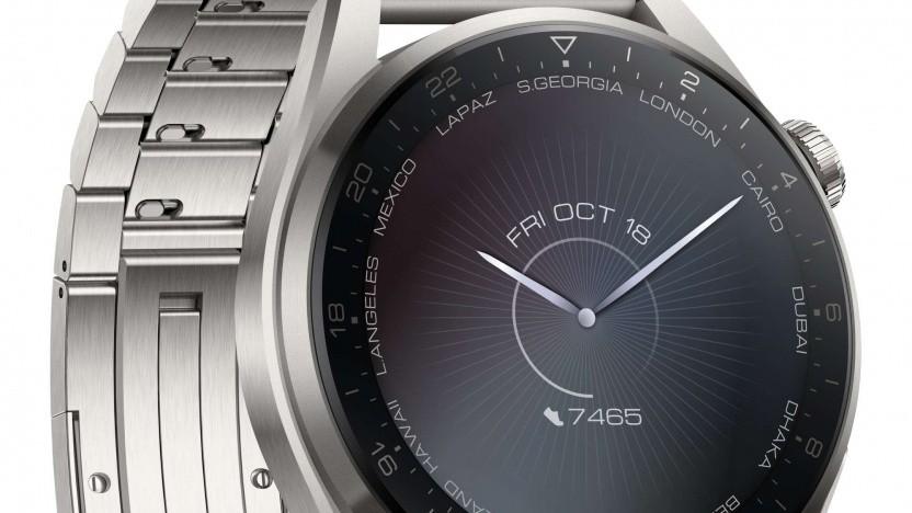 Die Huawei Watch 3 Pro ist aus Titan.