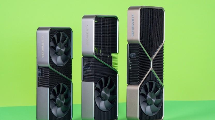 Von links nach rechts: RTX 3070, RTX 3070 Ti, RTX 3080