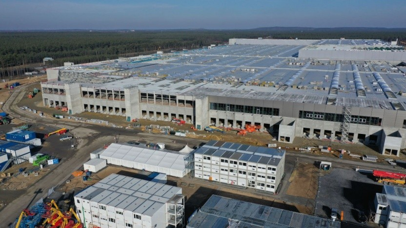 Tesla baut in Grünheide seine Gigafactory Berlin.
