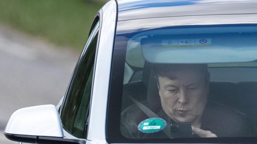 Elon Musk in Grünheide bei Berlin