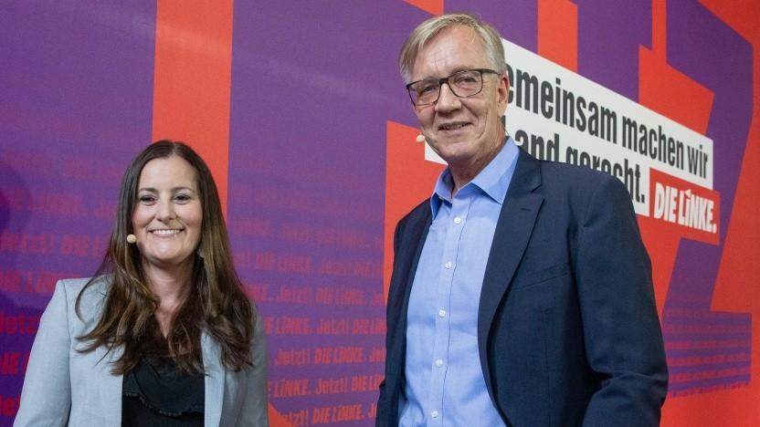 Janine Wissler und Dietmar Bartsch: Spitzenkandidaten der Linken für den Bundestagswahlkampf