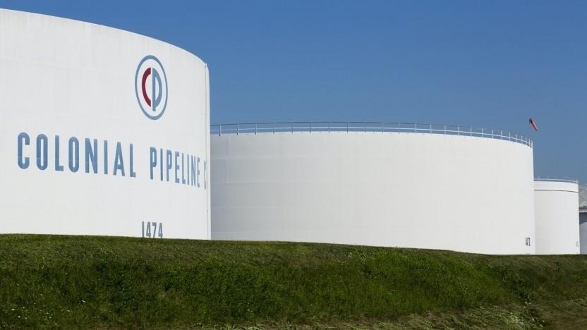 Die Treibstofftanks der betroffenen Colonial Pipeline