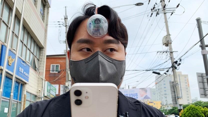 Paeng Min-wook mit seiner Erfindung