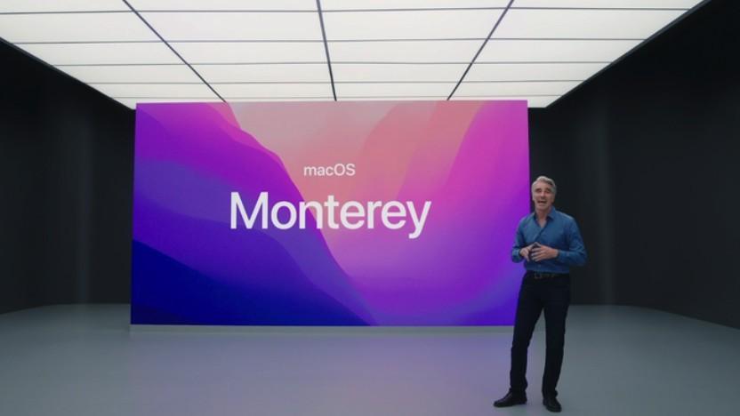 Apple stellt MacOS Monterey vor.