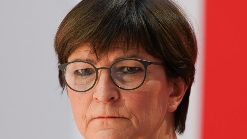 Co-Parteichefin Saskia Esken konnte sich in der SPD-Fraktion nicht durchsetzen.