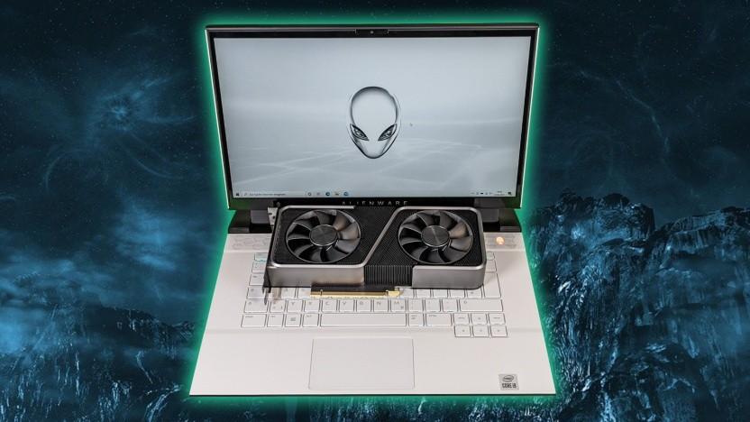 Das Alienware M15 R4 tritt gegen die vollwertige Geforce RTX 3070 FE an.