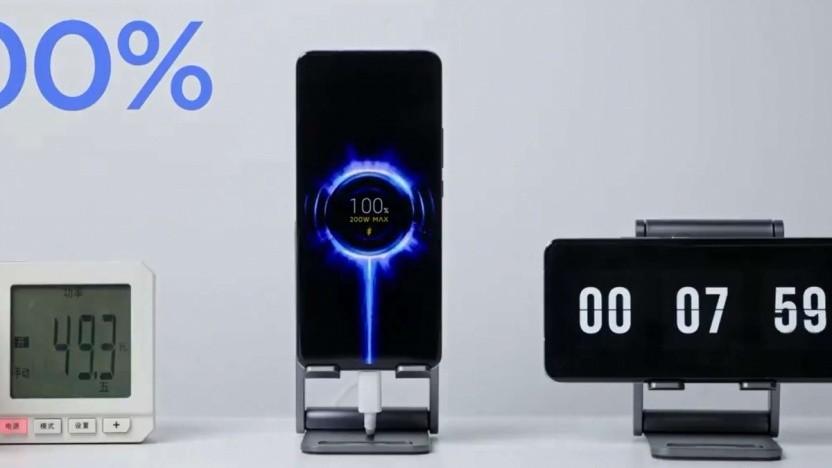 Xiaomis 200-Watt-Schnellladen