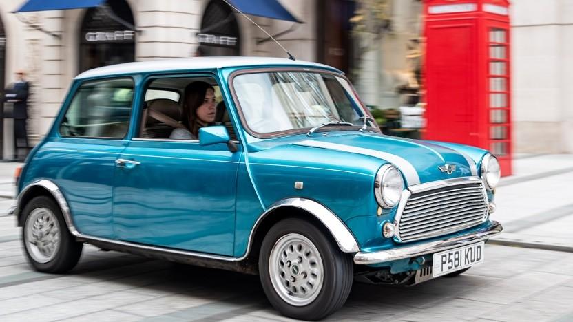 Klassischer Mini mit Elektroantrieb