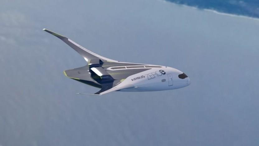 Airbus plant mit Wasserstoff betriebene Flugzeuge und denkt dabei auch an komplett neue Formen von Flugzeugen.