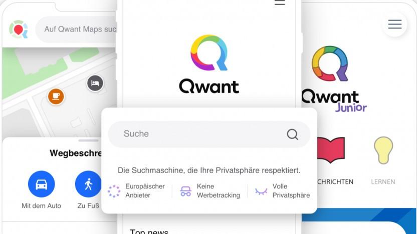 Qwant wirbt mit seinem datenschutzfreundlichen Suchangebot.