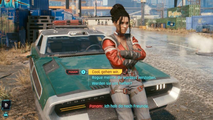 Szene aus Cyberpunk 2077