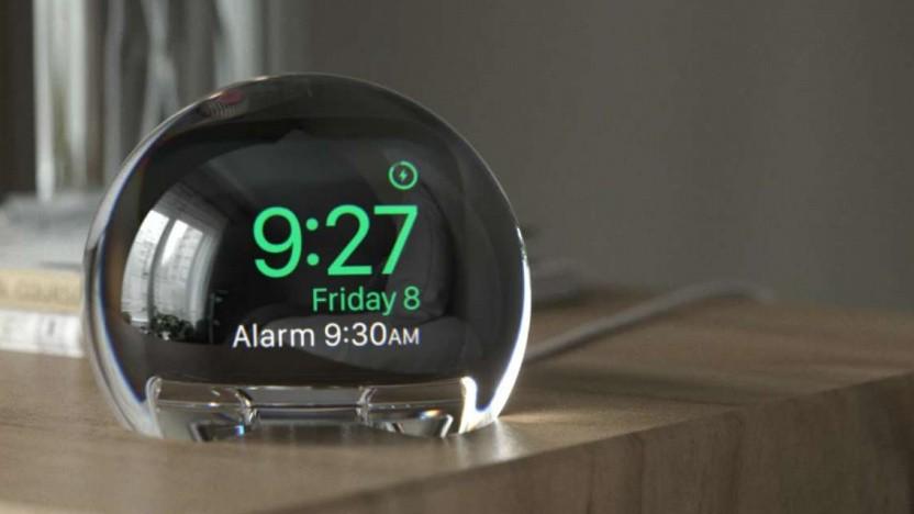 Eine Apple Watch in der Nightwatch-Kugel