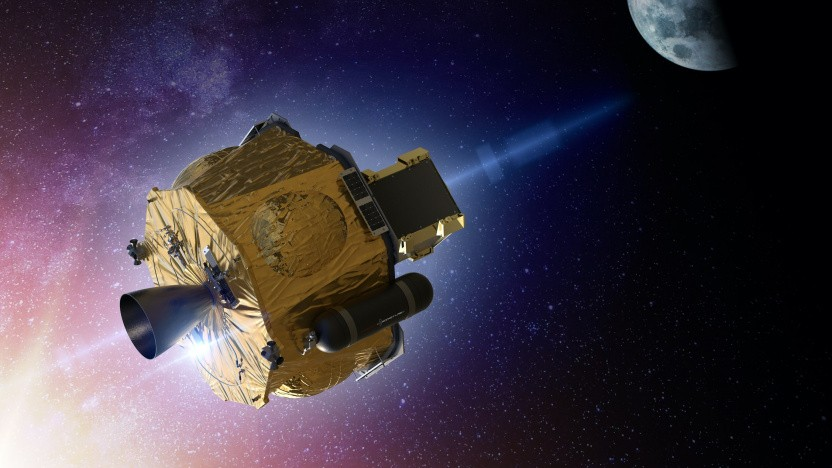 Künstlerische Darstellung einer Photon-Sonde im All: Start zum Mars im Jahr 2024