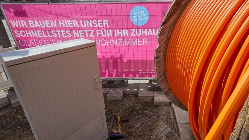 Glasfaserausbau der Deutschen Telekom
