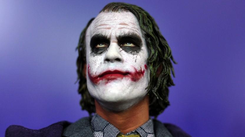 Why so serious? Joker-Figur auf einer Spielwarenmesse im Jahr 2013