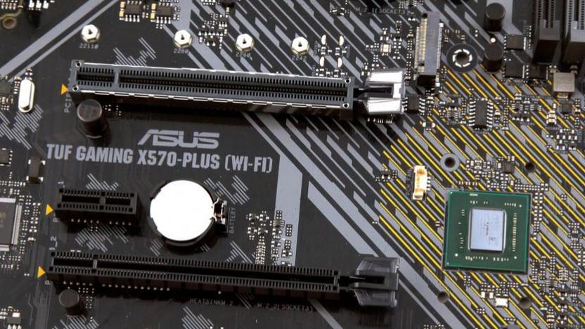 Ein X570-Chip auf einer Asus-Platine