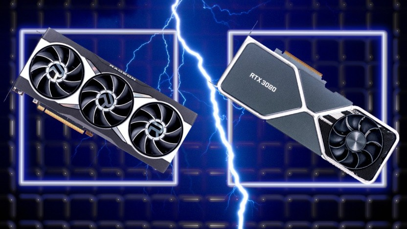 Eine Radeon RX 6800 XT und eine Geforce RTX 3080
