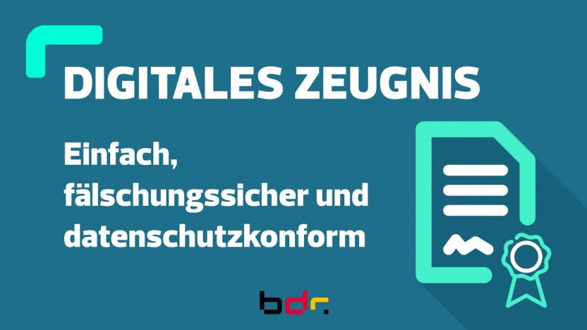 Das digitale Schulzeugnis kommt.