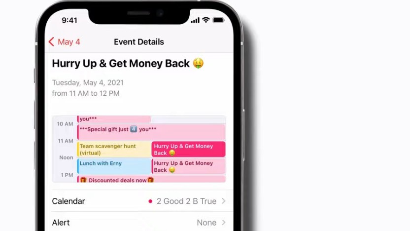 Kalender-Spam auf dem iPhone