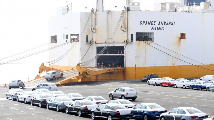 VW-Exporte im Emder Hafen
