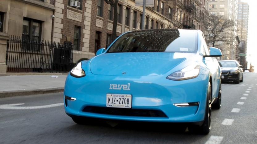 Tesla Model Y als Taxi von Revel