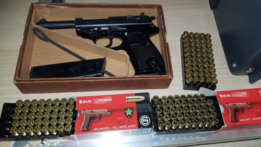 Beschlagnahmte Waffe