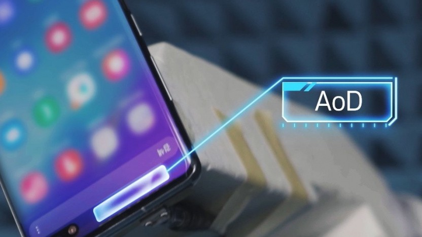 Im oberen Bereich eines Smartphone-Displays könnte sich die transparente Antenne verbauen lassen.