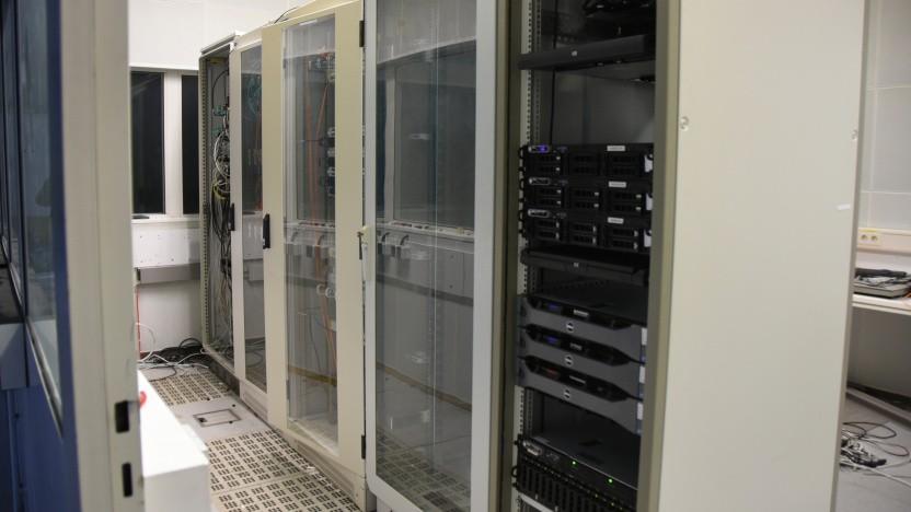 Serverschränke im Cyberbunker in Traben-Trarbach
