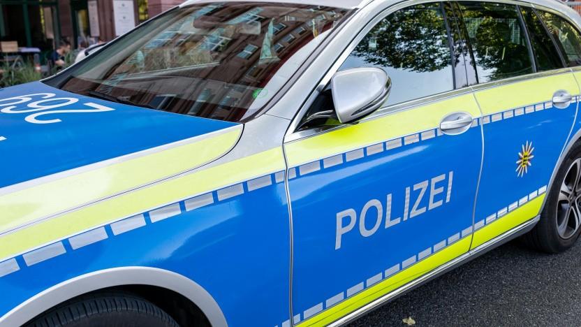 Ein Polizeiauto, noch unvernetzt