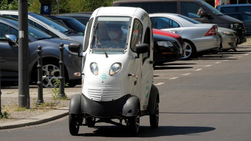 Der Kabinenroller von Enuu ist das neueste Carsharing-Angebot in Berlin.