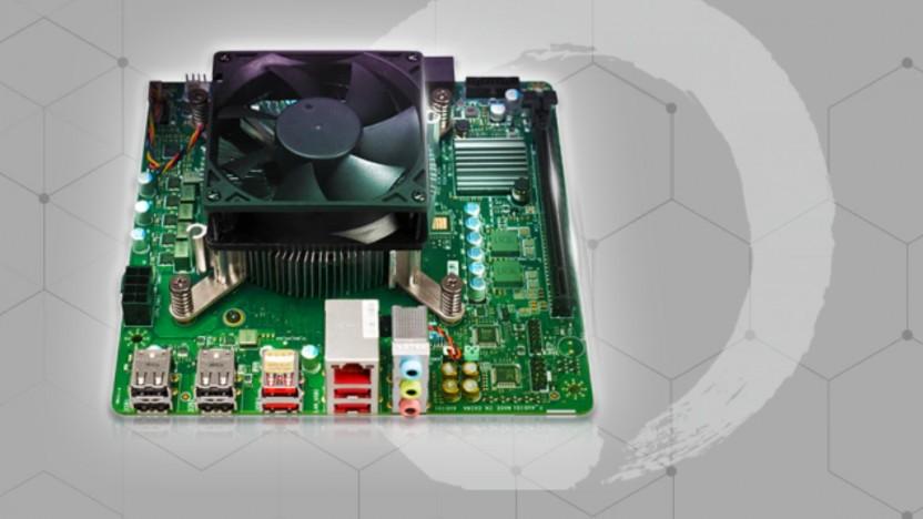 Das 4700S Desktop Kit mit Mainboard und CPU-Kühler
