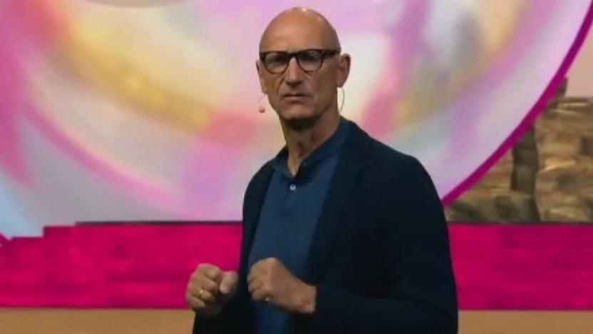 Telekom-Chef Tim Höttges stellt in einer Videokonferenz am 28. Juni 2021 auch Open RAN vor.